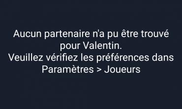 """Message d'erreur """"Aucun partenaire trouvé"""""""