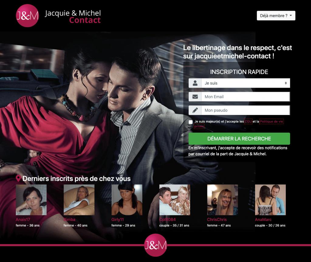 Site Jacquie et Michel Contact